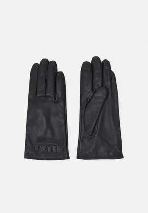 LOGO GLOVES - Gloves - black