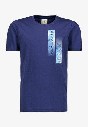 Print T-shirt - whale blue