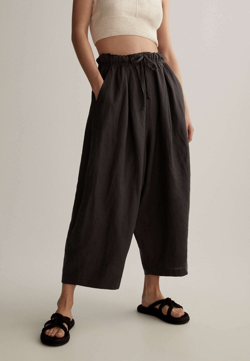 OYSHO - Trousers - dark grey