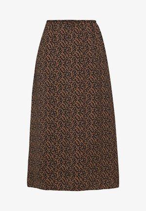 TIEAL SKIRT - A-line skirt - black/berry flower