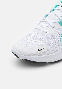 Nike Performance - REACT MILER 2 - Neutral running shoes - white/black/dynamic turquoise - 5