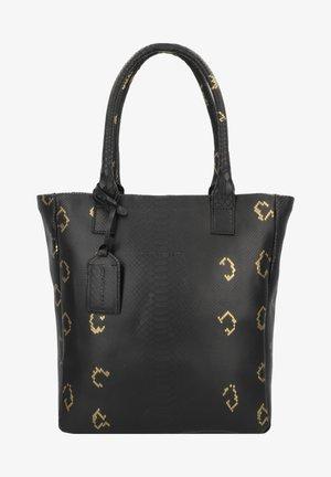 QUARTZ - Shopping bag - snake black/gold