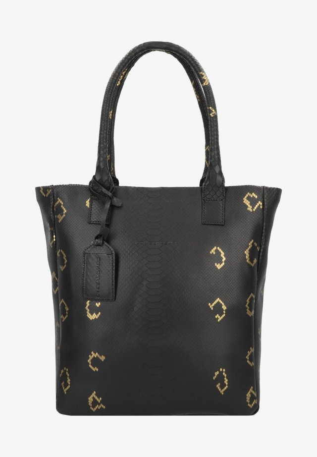 QUARTZ - Shopping Bag - snake black/gold