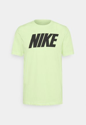 TEE ICON BLOCK - Camiseta estampada - light liquid lime/black