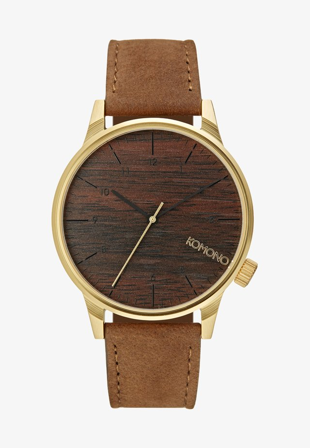 WINSTON - Watch - gold-coloured/wood