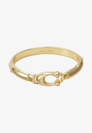 SCULPTED PLAQUE BANGLE - Bracciale - gold-coloured