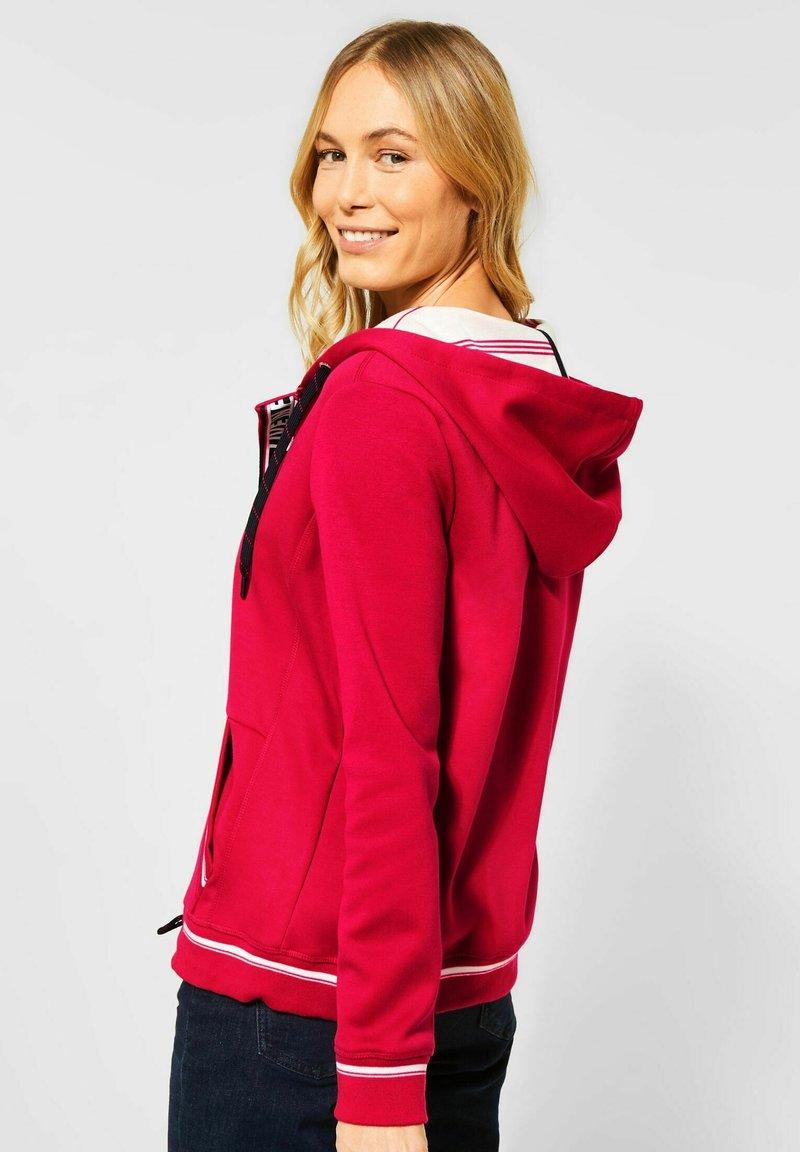 Cecil - Zip-up hoodie - rot