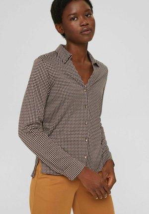 MIT TENCEL - Button-down blouse - brown
