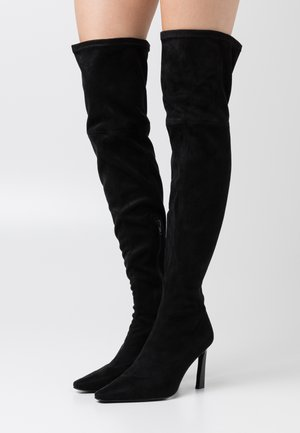 SOFT LINE THIGH HIGH BOOTS - Laarzen met hoge hak - black