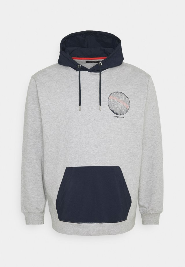 CONTRAST FABRIC PRINTED - Sweater - grey melange