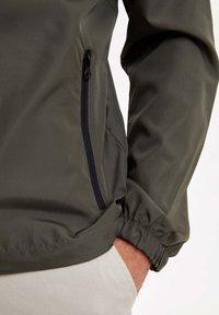 DeFacto - veste en sweat zippée - khaki - 3