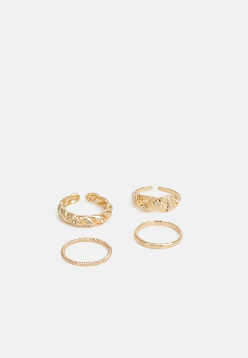 Pieces - PCBLOA 4 PACK - Ring - gold-coloured
