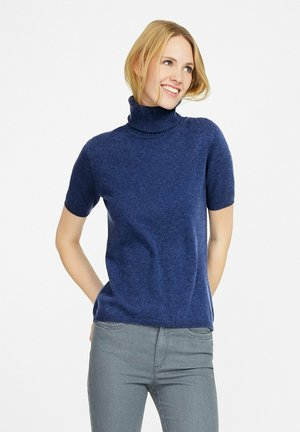 Basic T-shirt - meerblau-melange
