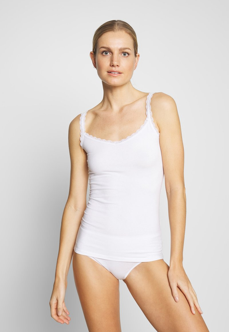 Marks & Spencer London - V NECK TRIM - Camiseta interior - white