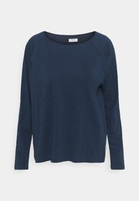 LONG SLEEVE RAGLAN SLEEVE RELAXED FIT - Long sleeved top - dress blue