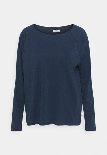 LONG SLEEVE RAGLAN SLEEVE RELAXED FIT - Pitkähihainen paita - dress blue