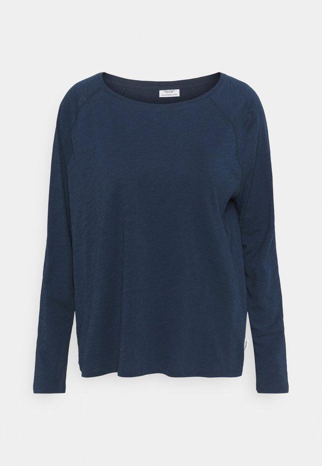LONG SLEEVE RAGLAN SLEEVE RELAXED FIT - Maglietta a manica lunga - dress blue