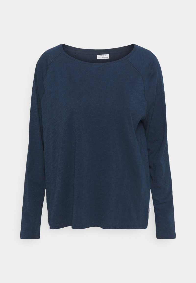Marc O'Polo DENIM - LONG SLEEVE RAGLAN SLEEVE RELAXED FIT - Long sleeved top - dress blue
