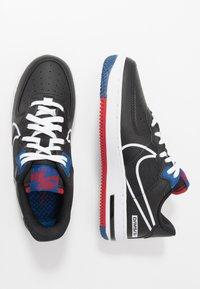 Nike Sportswear - AIR FORCE 1 REACT - Trainers - black/dark smoke grey/laser crimson/voltage purple - 1