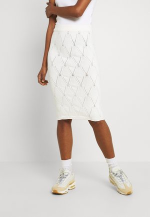 BYMILO STRUCTURE SKIRT  - Pencil skirt - vanilla ice