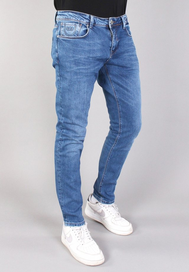 BERGAMO - Jeans Tapered Fit - bleach