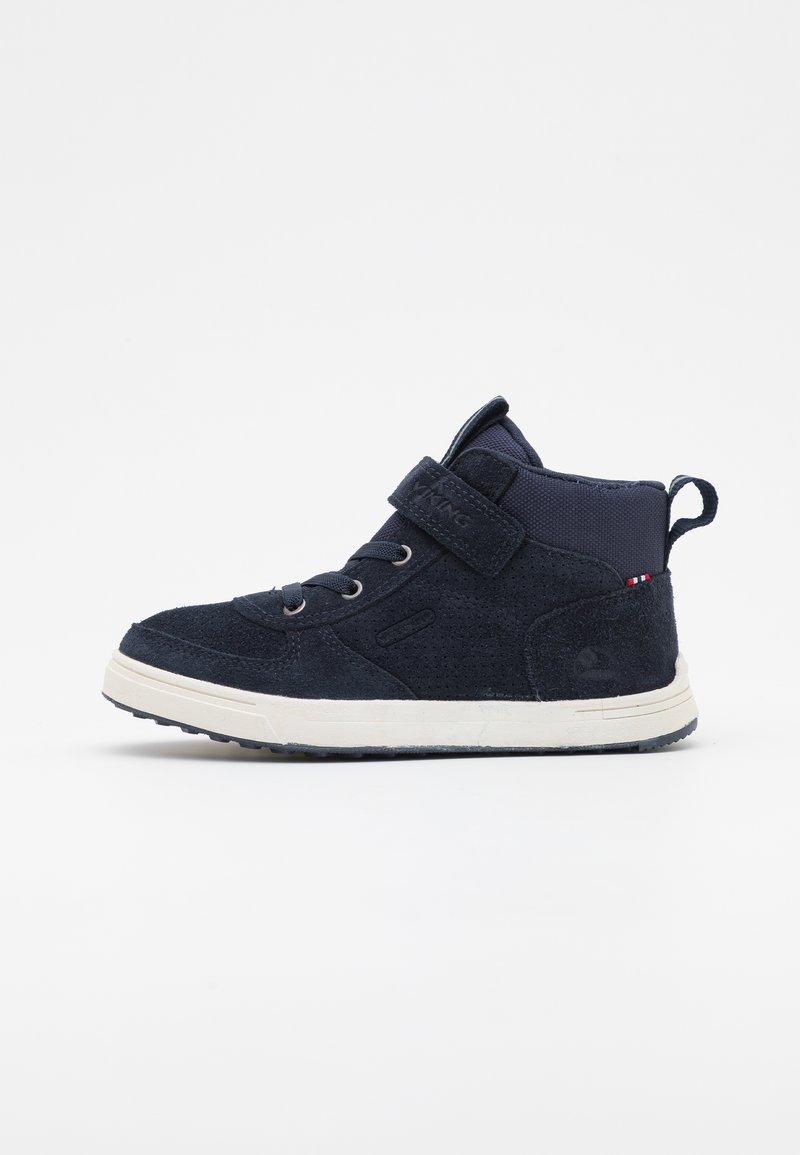 Viking - SAMUEL MID WP JR UNISEX - Hiking shoes - navy