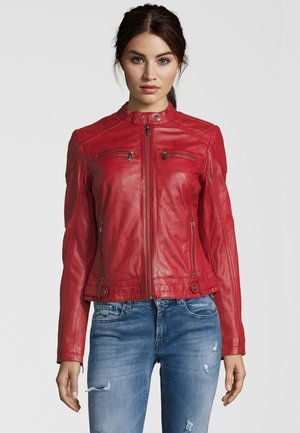 BE LOVED - Giacca di pelle - red