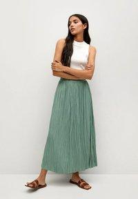 Mango - PALMER - Plisovaná sukně - aquamarijn - 1