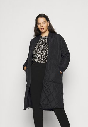 CARCARROT LONG QUILTED JACKET - Klassinen takki - black