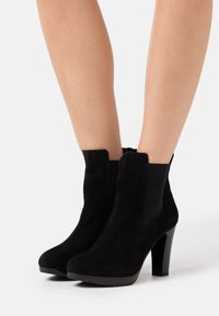 Selected Femme - SLFGRACE CHELSEA  - High heeled ankle boots - black - 0