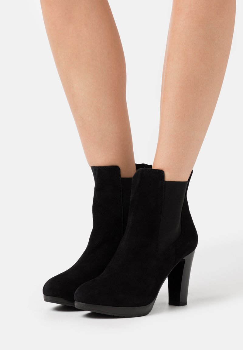 Selected Femme - SLFGRACE CHELSEA  - High heeled ankle boots - black