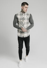 SIKSILK - GRANDAD  - Shirt - off-white/grey - 1