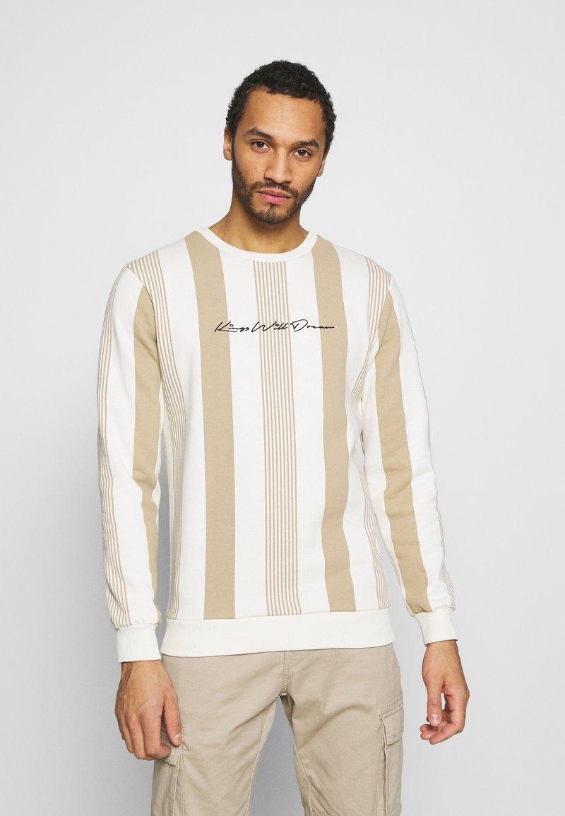 Kings Will Dream - VEDLO CREW - Sweatshirt - dark sand/white