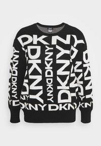 DKNY - EXPLODED LOGO - Strikkegenser - black/ivory - 5