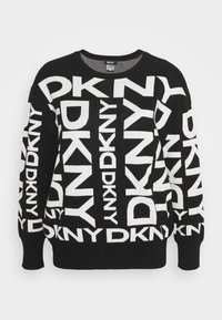 DKNY - EXPLODED LOGO - Jumper - black/ivory - 5