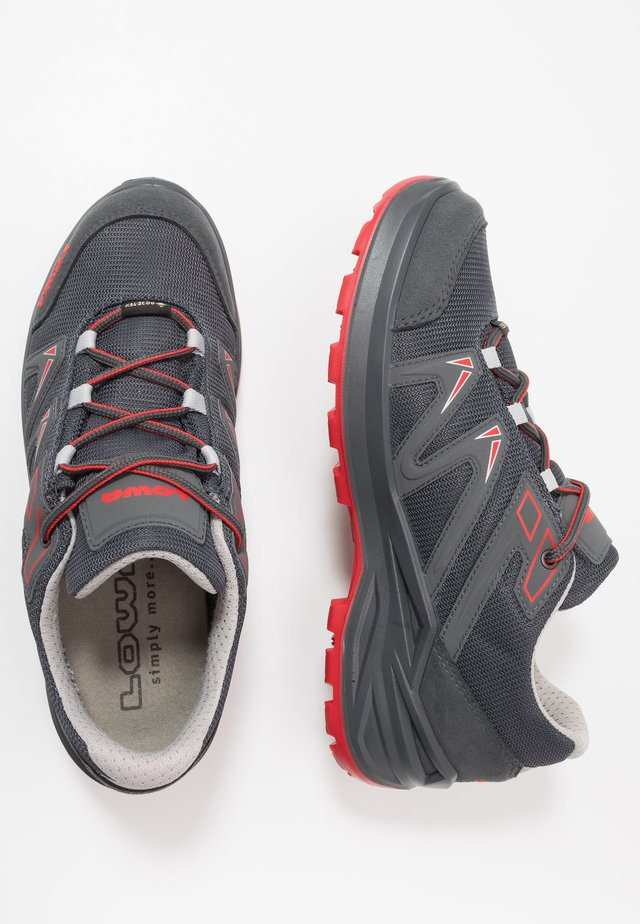 INNOXPROGTX LOLACING - Hiking shoes - graphit/rot