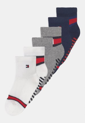 FLAG 4 PACK UNISEX - Socks - white/light grey melange