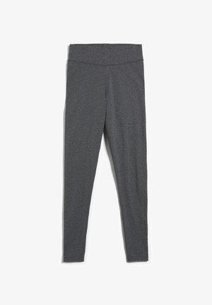 FARIBAA - Leggings - Trousers - dark grey melange