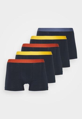 5 PACK - Boxerky - dark blue/dark yellow/dark red
