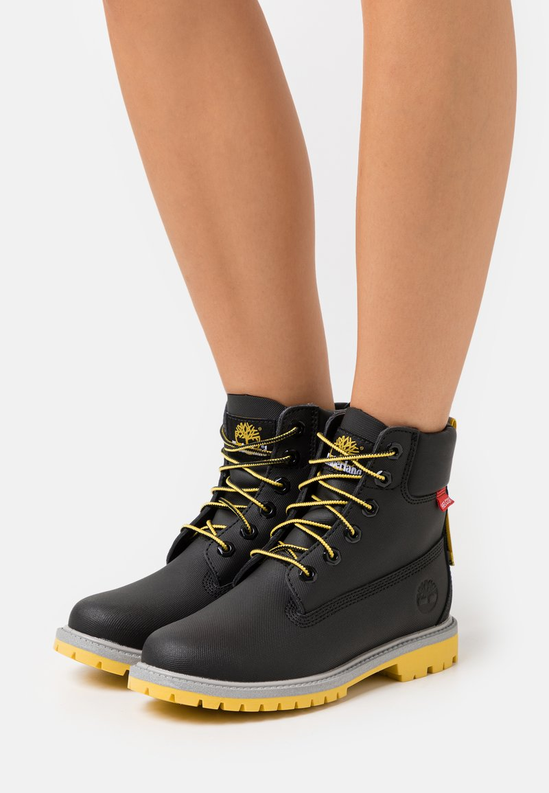 Timberland - 6IN HERT CUPSOLE - Lace-up ankle boots - black helcor