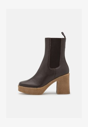 STRETCH - High heeled ankle boots - seal brown dollaro