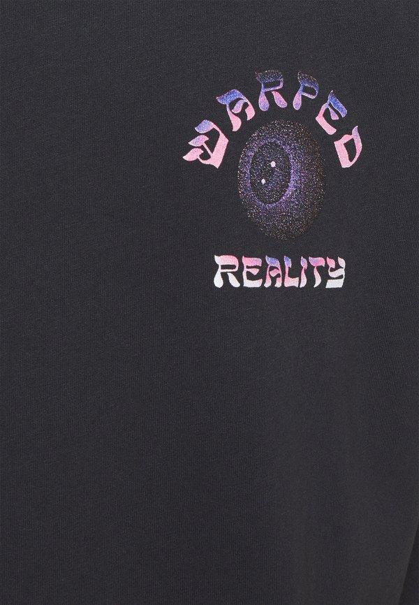 Topman WARPED TEE - T-shirt z nadrukiem - black/czarny Odzież Męska GIVN