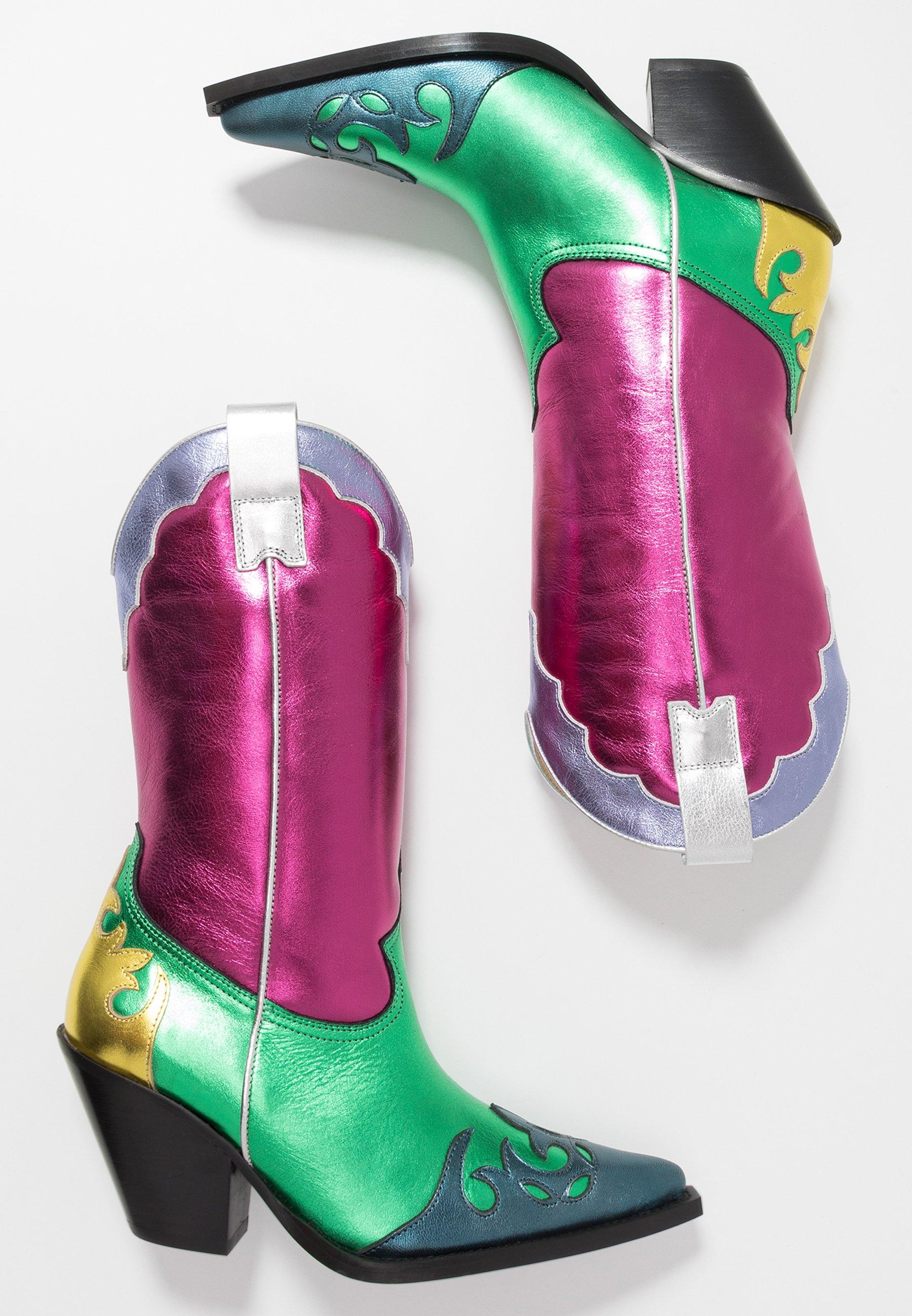 Toral Cowboy- / Bikerstøvler - Multicolor/pink/green