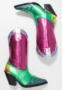 Toral - Cowboy/Biker boots - multicolor/pink/green - 3