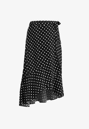 MIT VOLANT - A-line skirt - schwarz