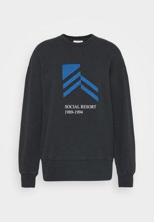 BULKY CREW - Sweatshirt - faded black