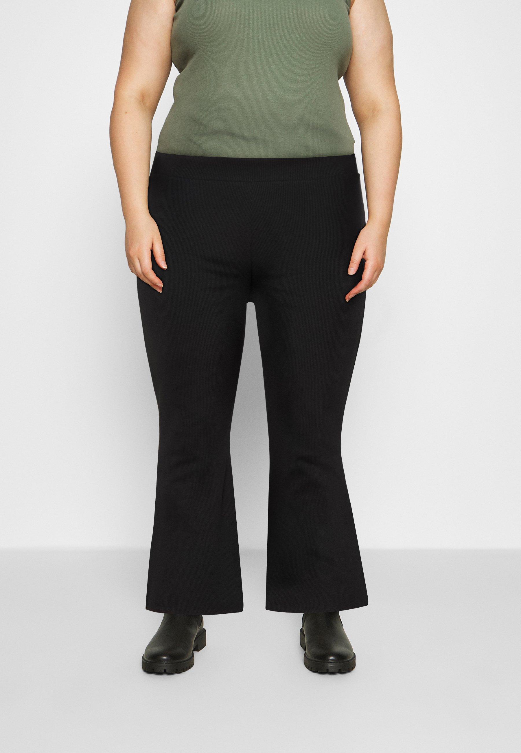 Women HIGH WAIST FLARE LEGGINGS - Trousers