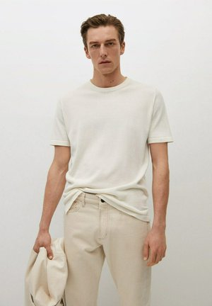 CONDE - T-shirt basic - blanc cassé