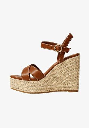 Wedge sandals - middenbruin