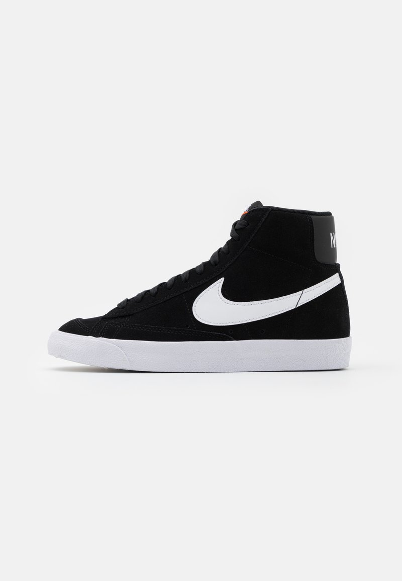 Nike Sportswear - BLAZER MID '77 UNISEX - Sneaker high - black/white/total orange